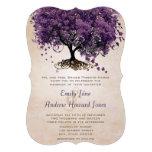 El boda púrpura cortado con tintas del árbol de He