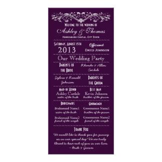 El boda púrpura de la tipografía del vintage progr lonas personalizadas