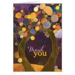 El boda púrpura de los árboles de amor de la felicitacion