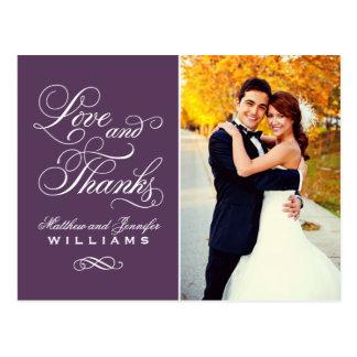 El boda púrpura del amor y de las gracias el | le tarjeta postal