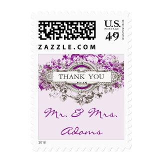 El boda púrpura del vintage de la lila le agradece envio