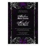 El boda púrpura fantasmagórico del Victorian gótic