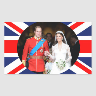 El boda real 11 pegatina rectangular