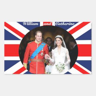 El boda real 14 pegatina rectangular