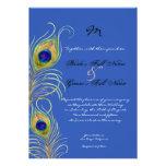 El boda real del azul de cobalto de las plumas del