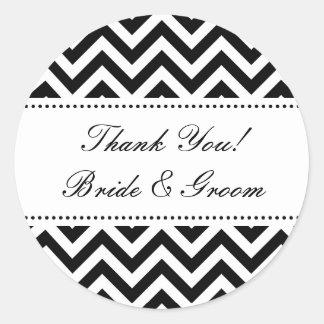 El boda redondo le agradece sellador del sobre de pegatina redonda