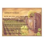 El boda retro de la puesta del sol del viñedo del invitacion personalizada
