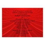 El boda rojo del Showstopper invita Invitaciones Personales