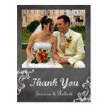 El boda romántico de la pizarra del vintage le agr tarjetas postales