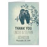 el boda romántico de los pares de los búhos del am