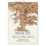 el boda romántico del árbol viejo le agradece las  tarjetón