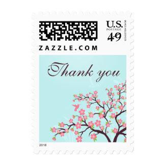 El boda rosado azul elegante de la flor de cerezo franqueo