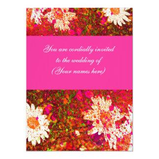 El boda rosado brillante de la primavera invita invitación 16,5 x 22,2 cm