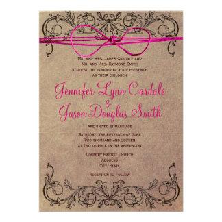 El boda rosado de Brown del vintage rústico del pa