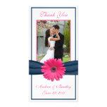 El boda rosado de la margarita del Gerbera le agra Tarjetas Personales