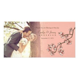 El boda rosado de Sakura de las flores de cerezo Tarjeta Fotografica