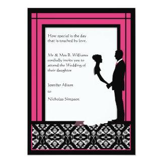 El boda rosado negro, blanco y brillante del anuncios personalizados