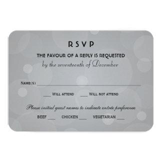 El boda RSVP carda el negro del | y el gris del Invitación 8,9 X 12,7 Cm