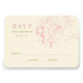 El boda RSVP carda el Peony floral rosado del Anuncio