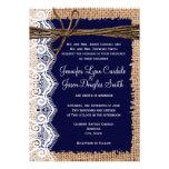 El boda rústico de la guita del cordón de la arpil