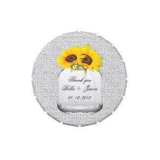 El boda rústico del girasol favorece sunflwr8 jarrones de dulces