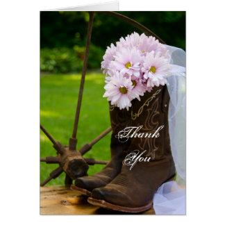 El boda rústico del país de las margaritas le agra tarjeta