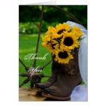 El boda rústico del país de los girasoles le agrad tarjetas