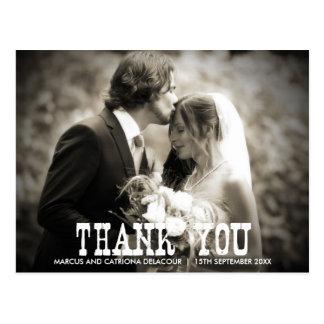 El boda rústico del país le agradece postal - foto