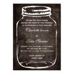 el boda rústico del tarro de albañil invita invitación personalizada