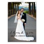 El boda simple de la escritura le agradece cardar tarjetas