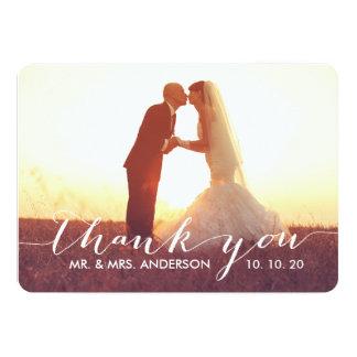 """El boda simple de la escritura le agradece las invitación 5"""" x 7"""""""