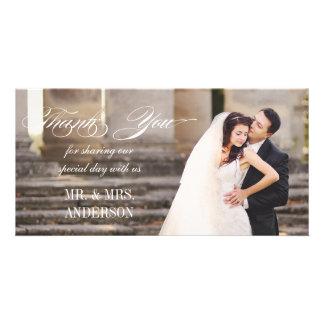 El boda simple le agradece tarjeta personal