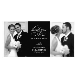 El boda simplemente bonito le agradece las tarjeta tarjetas personales con fotos