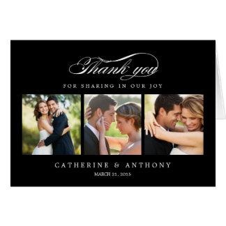El boda simplemente elegante le agradece cardar -  tarjetas