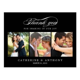 El boda simplemente elegante le agradece cardar - tarjetas postales
