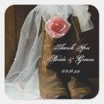 El boda subió país le agradece los pegatinas