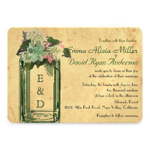 El boda suculento de los Hydrangeas del tarro de a Comunicado Personal