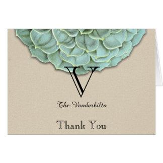 El boda suculento sabio le agradece tarjeta pequeña