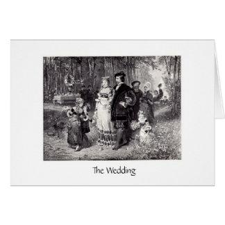 El boda tarjeta de felicitación