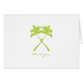 El boda tropical anudado de las palmeras le tarjeta pequeña