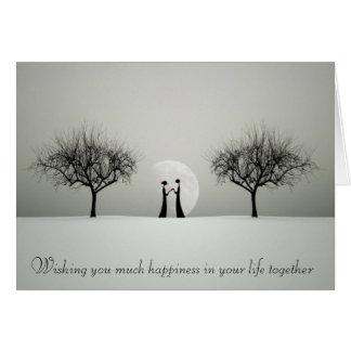 El boda único desea la tarjeta