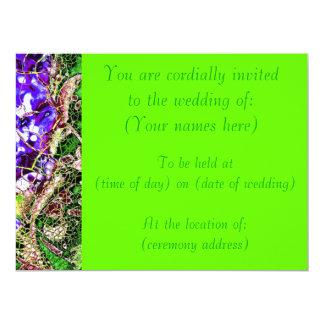 El boda verde claro de la primavera invita invitación 16,5 x 22,2 cm