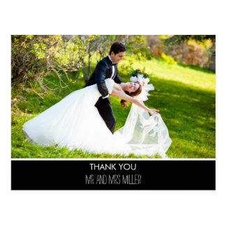 El boda vertical moderno de la foto le agradece postales