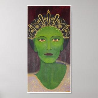 El Bodhisattva verde de Tara Póster
