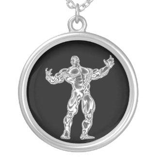 El Bodybuilder para hombre del cromo consigue el c Colgantes Personalizados