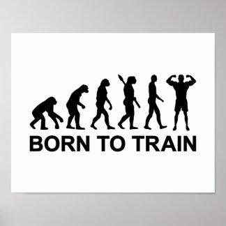 El Bodybuilding de la evolución llevado para entre Posters