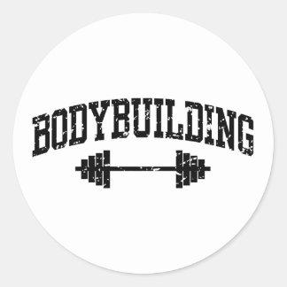 El Bodybuilding Etiquetas Redondas