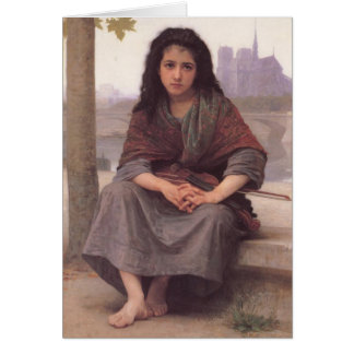 El bohemio - William-Adolphe Bouguereau Tarjeta De Felicitación