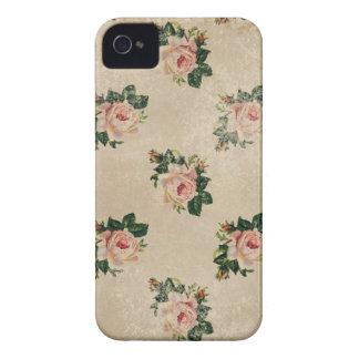 El boho lamentable de los rosas florales elegantes iPhone 4 cobertura