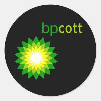 El boicoteo BP engrasa las camisetas, las bolsas Pegatina Redonda